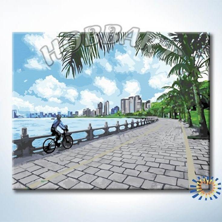 «Велопрогулка»Hobbart<br><br><br>Артикул: HB4050331<br>Основа: Холст<br>Сложность: сложные<br>Размер: 40x50 см<br>Количество цветов: 25<br>Техника рисования: Без смешивания красок