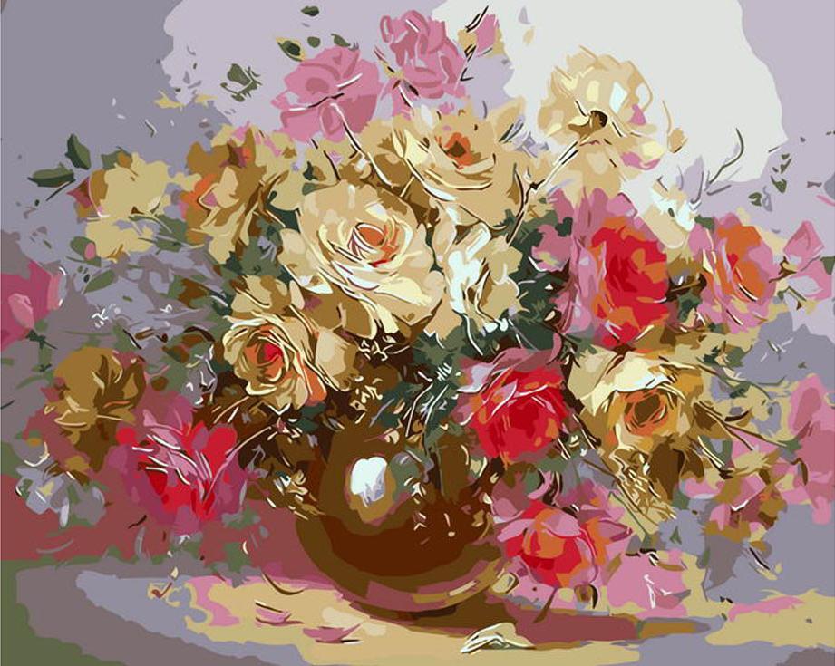 Картина по номерам «Нежность» Надежды ЛевицкойPaintboy (Premium)<br><br><br>Артикул: GX7063<br>Основа: Холст<br>Сложность: средние<br>Размер: 40x50 см<br>Количество цветов: 24<br>Техника рисования: Без смешивания красок