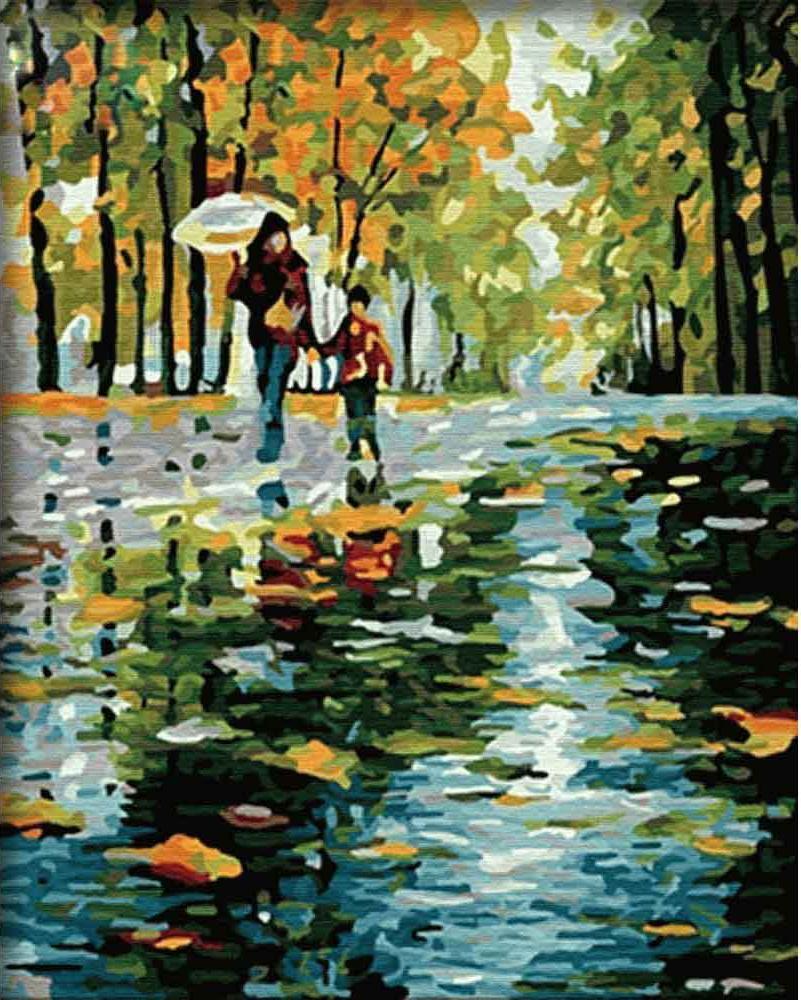 «Дождливой осенью» Леонида АфремоваMenglei (Premium)<br>Осень в картинах Леонида Афремова - это великолепная пора обновления, ведь природа стремительно меняет свое обличье, принося новые ощущения и даря возможность каждому прикоснуться к волшебству, которое происходит прямо на глазах. Раскрашивая картину по но...<br><br>Артикул: MG064<br>Основа: Холст<br>Сложность: сложные<br>Размер: 40x50 см<br>Количество цветов: 30<br>Техника рисования: Без смешивания красок