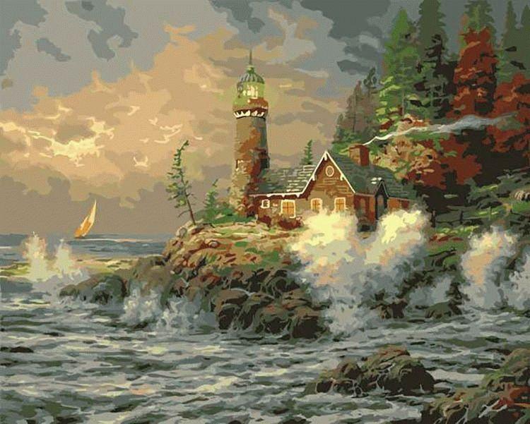 «Морская стихия» Томаса КинкейдаMenglei (Premium)<br>Мощь стихии всегда вызывает восторг, она насыщает энергией и легко раздвигает рамки обыденности. Однако картина-раскраска по номерам «Морская стихия» посвящена не только величественной силе моря, в первую очередь, Томас Кинкейд хотел показать силу духа че...<br><br>Артикул: MG279<br>Основа: Холст<br>Сложность: сложные<br>Размер: 40x50 см<br>Количество цветов: 26<br>Техника рисования: Без смешивания красок
