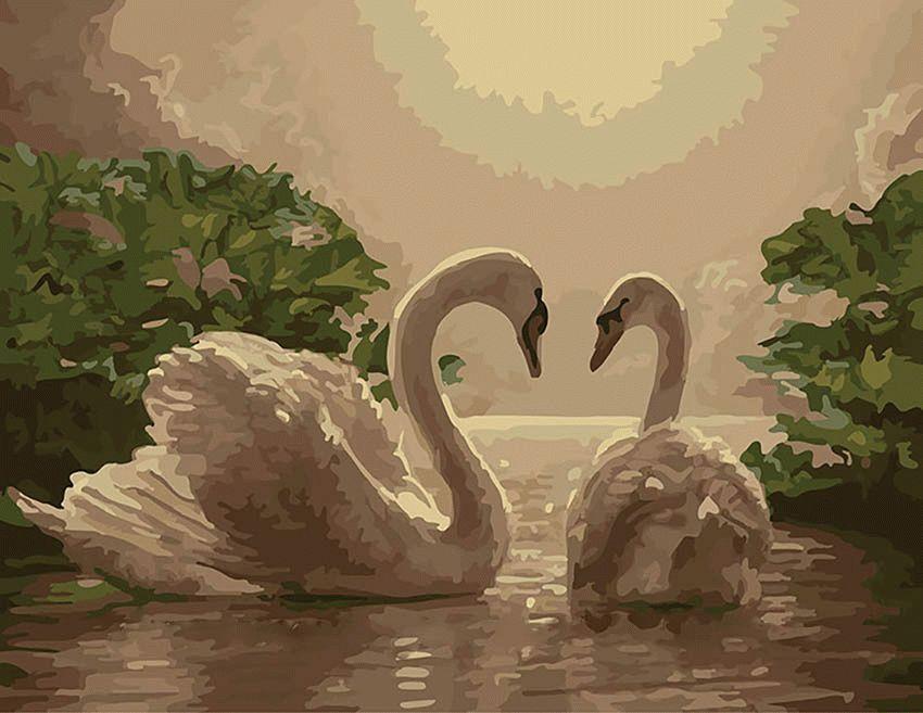 «Изящество. Грация. Верность»Menglei (Premium)<br>Пара лебедей на картине - это идеальный символ для визуализации любого из желаний, которые касаются взаимоотношений с противоположным полом, ведь эти грациозные птицы являются образцом верности и изящества. Существует древняя легенда о том, что даже Зевс ...<br><br>Артикул: MG301<br>Основа: Холст<br>Сложность: сложные<br>Размер: 40x50 см<br>Количество цветов: 25<br>Техника рисования: Без смешивания красок