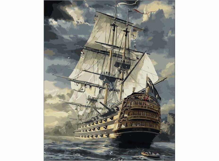 «Бригантина» Сарела ТеронаMenglei (Premium)<br>Путь в новую жизнь, к новым берегам, к новым достижениям и успехам - эта картина по номерам для всех, кто хочет подняться по карьерной лестнице или расширить границы своего бизнеса. Пусть конкуренты и соперники попробуют догнать великолепный корабль мечты...<br><br>Артикул: MMC067<br>Основа: Холст<br>Сложность: сложные<br>Размер: 50x65<br>Количество цветов: 29<br>Техника рисования: Без смешивания красок