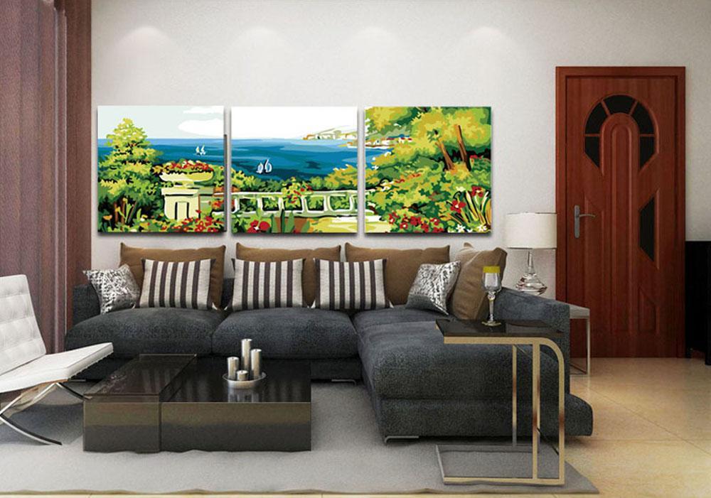 Терраса с видом на мореMenglei (Premium)<br>Сюжет картины по номерам «Терраса с видом на море» понравится и своей красочностью, и композицией. Это полотно – своеобразное «окно» в отдых. Работая над раскраской или любуясь готовым шедевром, ощущаешь его благотворное влияние. Окружающая действительнос...<br><br>Артикул: MT3037<br>Основа: Холст<br>Сложность: средние<br>Размер: 3 шт. 50x50 см<br>Количество цветов: 23<br>Техника рисования: Без смешивания красок