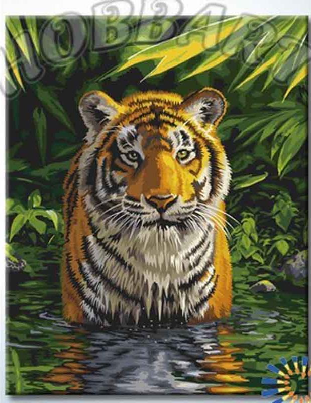 Картина по номерам «В воде»Hobbart<br><br><br>Артикул: DZ4050013<br>Основа: Холст<br>Сложность: сложные<br>Размер: 40x50 см<br>Количество цветов: 29<br>Техника рисования: Без смешивания красок