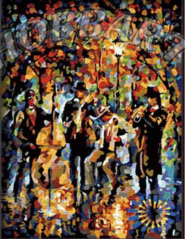 Картина по номерам «Джаз-банд» Леонида АфремоваHobbart<br><br><br>Артикул: HB3040092<br>Основа: Холст<br>Сложность: средние<br>Размер: 30x40 см<br>Количество цветов: 25<br>Техника рисования: Без смешивания красок