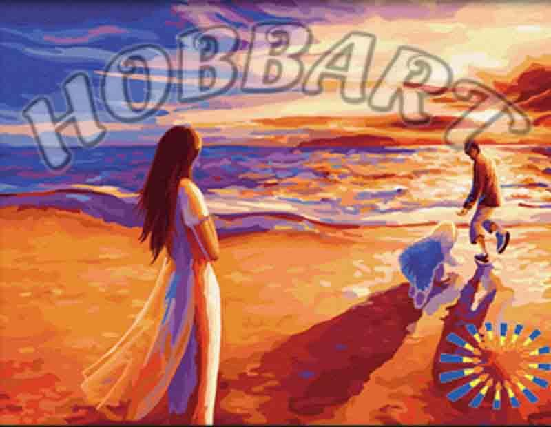 «На закате»Hobbart<br><br><br>Артикул: HB3040130<br>Основа: Холст<br>Сложность: средние<br>Размер: 30x40 см<br>Количество цветов: 27<br>Техника рисования: Без смешивания красок