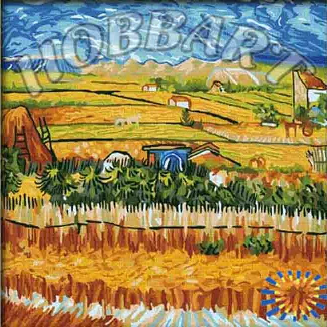 «Пейзаж с голубой повозкой» Ван ГогHobbart<br><br><br>Артикул: HB4040019<br>Основа: Холст<br>Сложность: очень сложные<br>Размер: 40x40 см<br>Количество цветов: 25<br>Техника рисования: Без смешивания красок