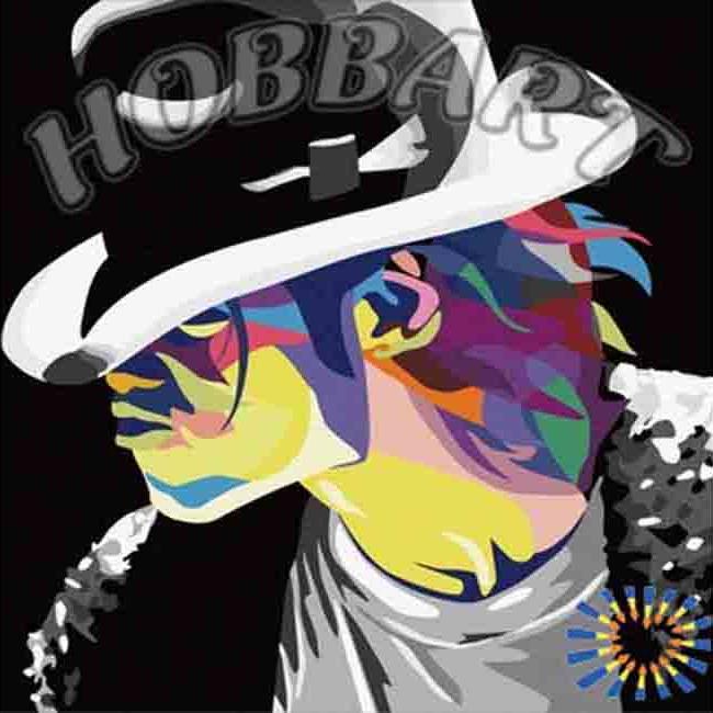 «Майкл Джексон» Леонида АфремоваHobbart<br><br><br>Артикул: HB4040029<br>Основа: Холст<br>Сложность: очень легкие<br>Размер: 40x40 см<br>Количество цветов: 30<br>Техника рисования: Без смешивания красок