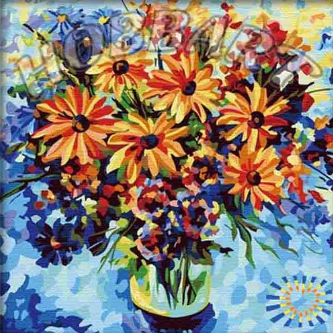 Картина по номерам «Летнее настроение»Hobbart<br><br><br>Артикул: HB4040032<br>Основа: Холст<br>Сложность: средние<br>Размер: 40x40 см<br>Количество цветов: 26<br>Техника рисования: Без смешивания красок