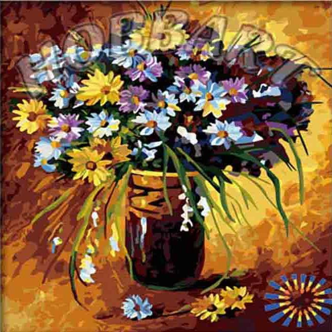 «Полевые цветы»Hobbart<br><br><br>Артикул: HB4040033<br>Основа: Холст<br>Сложность: сложные<br>Размер: 40x40 см<br>Количество цветов: 28<br>Техника рисования: Без смешивания красок