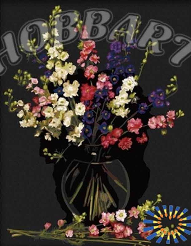 Картина по номерам «Букет в вазе»Hobbart<br><br><br>Артикул: HB4050005<br>Основа: Холст<br>Сложность: очень сложные<br>Размер: 40x50 см<br>Количество цветов: 24<br>Техника рисования: Без смешивания красок