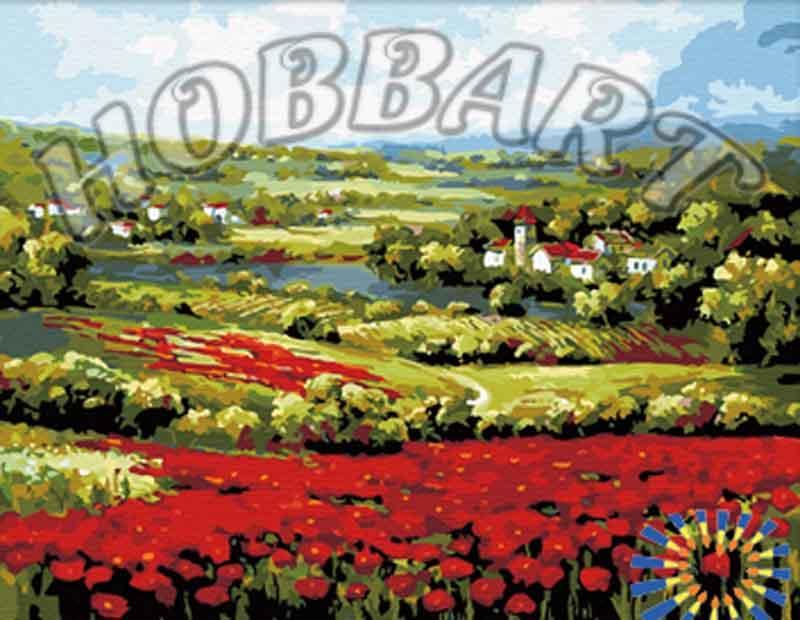 Картина по номерам «Маковое поле»Раскраски по номерам<br><br>