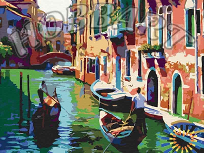 «Прогулка по Венеции» Говарда БеренсаHobbart<br><br><br>Артикул: HB4050045<br>Основа: Холст<br>Сложность: сложные<br>Размер: 40x50 см<br>Количество цветов: 28<br>Техника рисования: Без смешивания красок