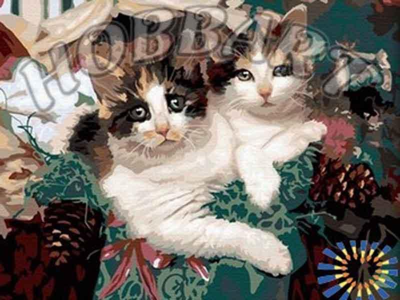 «Пушистый подарок»Hobbart<br><br><br>Артикул: HB4050051<br>Основа: Холст<br>Сложность: сложные<br>Размер: 40x50 см<br>Количество цветов: 29<br>Техника рисования: Без смешивания красок
