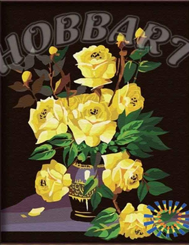 Картина по номерам «Желтая роза»Hobbart<br><br><br>Артикул: HB4050066<br>Основа: Холст<br>Сложность: средние<br>Размер: 40x50 см<br>Количество цветов: 17<br>Техника рисования: Без смешивания красок