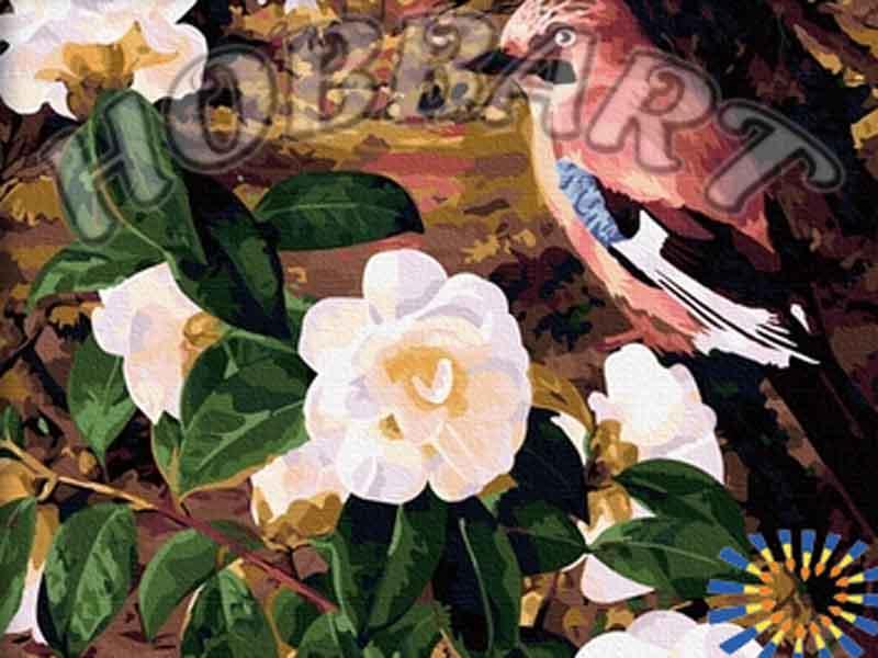 Картина по номерам «Птичка певчая»Hobbart<br><br><br>Артикул: HB4050078<br>Основа: Холст<br>Сложность: сложные<br>Размер: 40x50 см<br>Количество цветов: 30<br>Техника рисования: Без смешивания красок