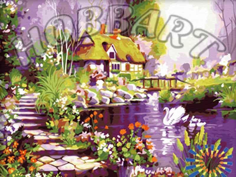 Картина по номерам «Белый лебедь на пруду»Hobbart<br><br><br>Артикул: HB4050084<br>Основа: Холст<br>Сложность: очень сложные<br>Размер: 40x50 см<br>Количество цветов: 30<br>Техника рисования: Без смешивания красок