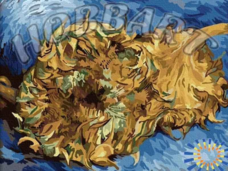 «Завядшие Подсолнухи» Винсента Ван ГогаHobbart<br><br><br>Артикул: HB4050105<br>Основа: Холст<br>Сложность: очень сложные<br>Размер: 40x50 см<br>Количество цветов: 25<br>Техника рисования: Без смешивания красок