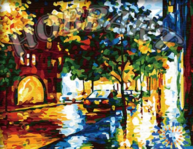 Картина по номерам «Тихая ночь» Леонида АфремоваHobbart<br><br><br>Артикул: HB4050114<br>Основа: Холст<br>Сложность: средние<br>Размер: 40x50 см<br>Количество цветов: 29<br>Техника рисования: Без смешивания красок