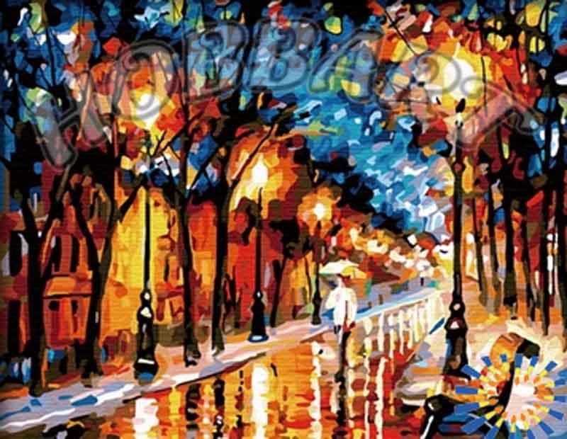 Картина по номерам «Дождливая осень» Леонида АфремоваHobbart<br><br><br>Артикул: HB4050116<br>Основа: Холст<br>Сложность: сложные<br>Размер: 40x50 см<br>Количество цветов: 30<br>Техника рисования: Без смешивания красок