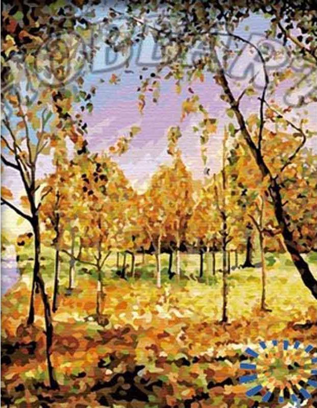 Картина по номерам «В золоте листвы»Hobbart<br><br><br>Артикул: HB4050122<br>Основа: Холст<br>Сложность: сложные<br>Размер: 40x50 см<br>Количество цветов: 28<br>Техника рисования: Без смешивания красок