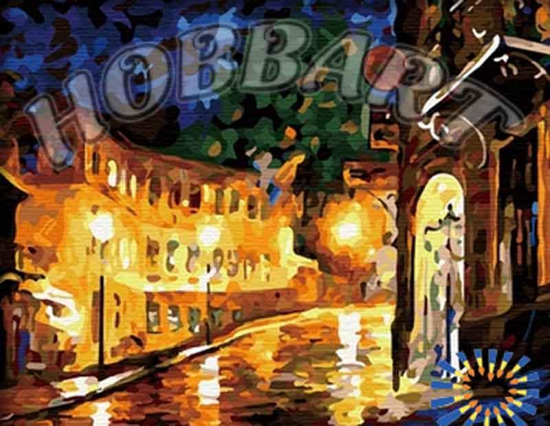 «Ночь, улица, фонарь» Леонида АфремоваHobbart<br>Мало кто гуляет по ночному городу, ведь это время для сна и отдыха, именно поэтому большинство людей даже не подозревают, насколько улицы красивы в это время суток. Картина по номерам «Ночной город» - сюжет-релакс, который позволяет погрузиться в тишину я...<br><br>Артикул: HB4050123<br>Основа: Холст<br>Сложность: средние<br>Размер: 40x50<br>Количество цветов: 29<br>Техника рисования: Без смешивания красок