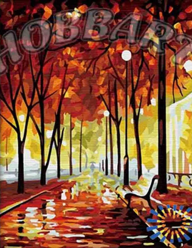 Картина по номерам «Осенний этюд» Леонида АфремоваHobbart<br><br><br>Артикул: HB4050126<br>Основа: Холст<br>Сложность: средние<br>Размер: 40x50 см<br>Количество цветов: 29<br>Техника рисования: Без смешивания красок
