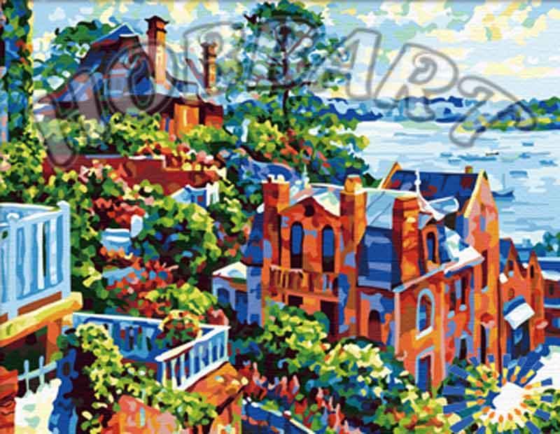 Картина по номерам «Июльское утро» Говарда БеренсаHobbart<br><br><br>Артикул: HB4050132<br>Основа: Холст<br>Сложность: очень сложные<br>Размер: 40x50 см<br>Количество цветов: 30<br>Техника рисования: Без смешивания красок