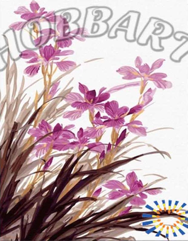 «Сиреневые орхидеи»Hobbart<br><br><br>Артикул: HB4050135<br>Основа: Холст<br>Сложность: средние<br>Размер: 40x50 см<br>Количество цветов: 24<br>Техника рисования: Без смешивания красок