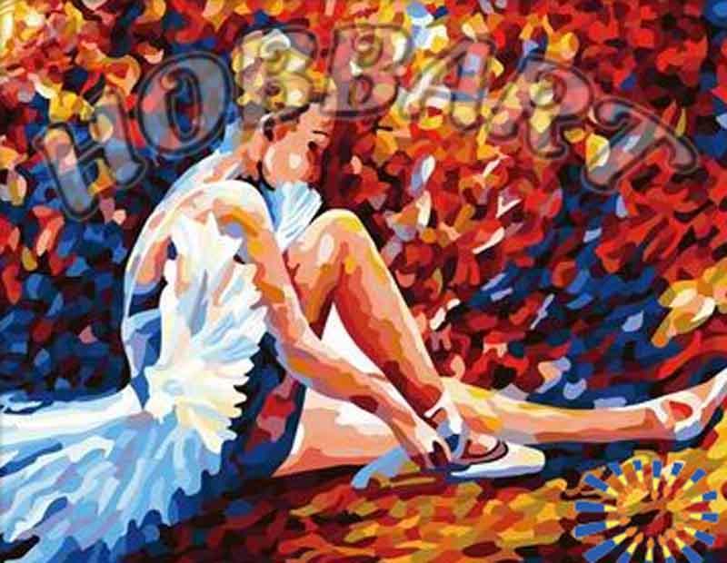 «На пуантах» Леонида АфремоваHobbart<br><br><br>Артикул: HB4050143<br>Основа: Холст<br>Сложность: средние<br>Размер: 40x50 см<br>Количество цветов: 30<br>Техника рисования: Без смешивания красок