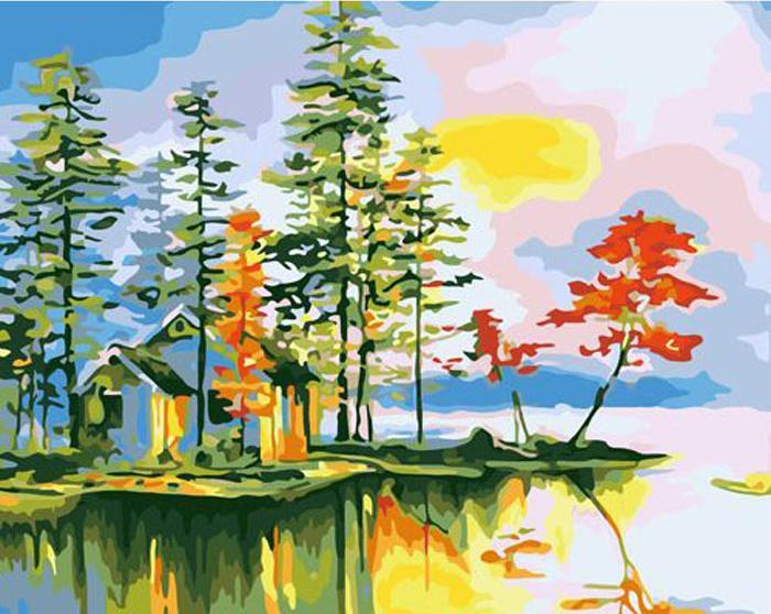 Картина по номерам «Заимка»Hobbart<br><br><br>Артикул: HB4050159<br>Основа: Холст<br>Сложность: средние<br>Размер: 40x50 см<br>Количество цветов: 30<br>Техника рисования: Без смешивания красок