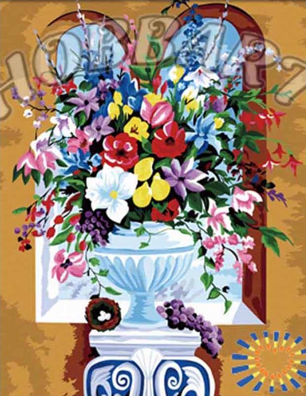 Картина по номерам «Летнее разноцветие»Hobbart<br><br><br>Артикул: HB4050176<br>Основа: Холст<br>Сложность: средние<br>Размер: 40x50 см<br>Количество цветов: 30<br>Техника рисования: Без смешивания красок