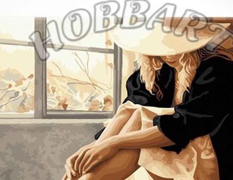 «В ожидании»Hobbart<br><br><br>Артикул: HB4050184<br>Основа: Холст<br>Сложность: средние<br>Размер: 40x50 см<br>Количество цветов: 29<br>Техника рисования: Без смешивания красок