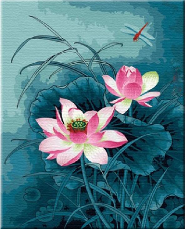 «Цветок для стрекозы»Hobbart<br><br><br>Артикул: HB4050197<br>Основа: Холст<br>Сложность: средние<br>Размер: 40x50 см<br>Количество цветов: 25<br>Техника рисования: Без смешивания красок