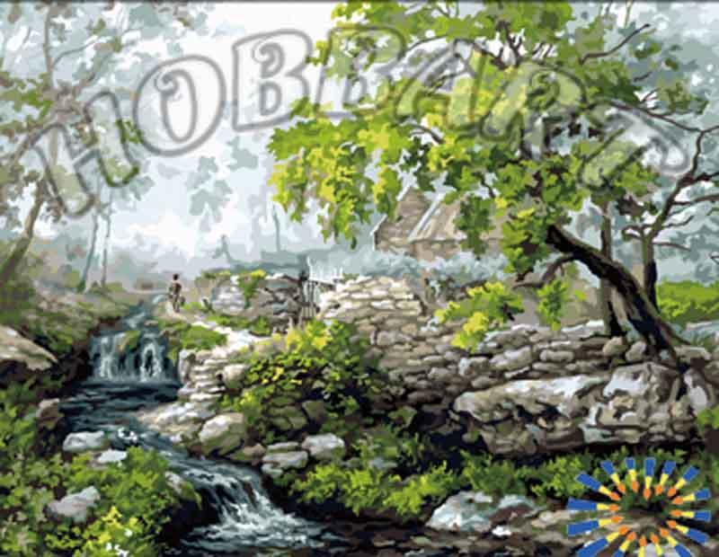 Картина по номерам «В предгорье»Hobbart<br><br>