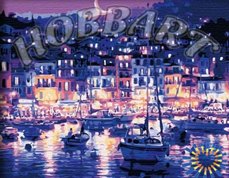 Картина по номерам «Ночная гавань» Теппеи СасакураHobbart<br><br><br>Артикул: HB4050212<br>Основа: Холст<br>Сложность: сложные<br>Размер: 40x50 см<br>Количество цветов: 21<br>Техника рисования: Без смешивания красок