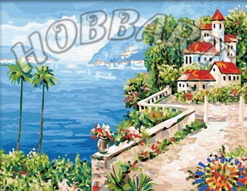 «Южный берег»Hobbart<br><br><br>Артикул: HB4050213<br>Основа: Холст<br>Сложность: сложные<br>Размер: 40x50 см<br>Количество цветов: 30<br>Техника рисования: Без смешивания красок