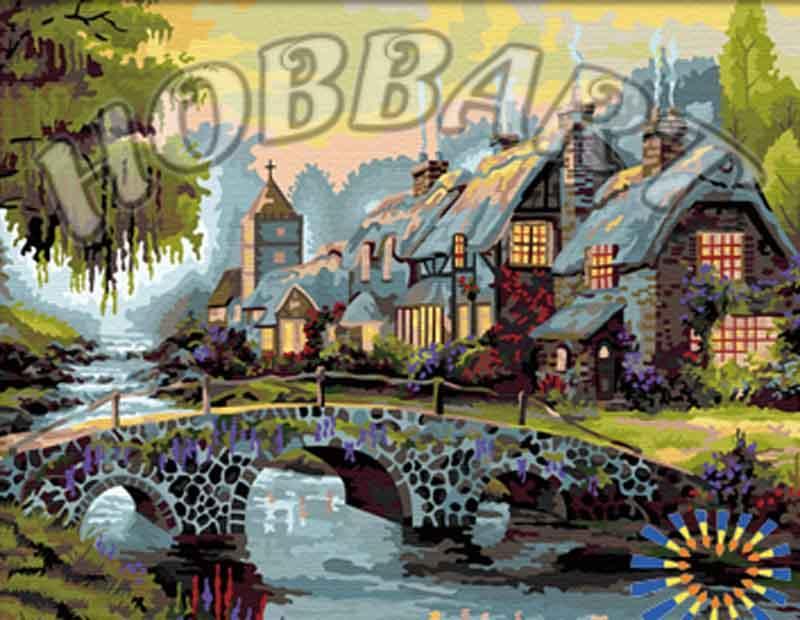 Картина по номерам «Альпийская сказка» Томаса КинкейдаHobbart<br><br><br>Артикул: HB4050215<br>Основа: Холст<br>Сложность: сложные<br>Размер: 40x50 см<br>Количество цветов: 29<br>Техника рисования: Без смешивания красок
