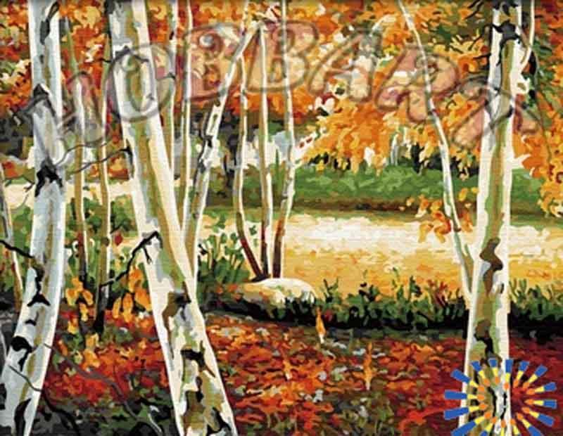 «Осенняя роща»Hobbart<br><br><br>Артикул: HB4050220<br>Основа: Холст<br>Сложность: средние<br>Размер: 40x50 см<br>Количество цветов: 29<br>Техника рисования: Без смешивания красок