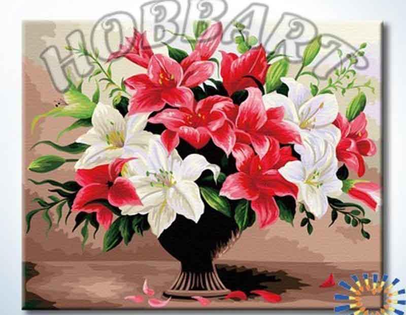 Картина по номерам «Лилейный шик»Hobbart<br><br><br>Артикул: HB4050223<br>Основа: Холст<br>Сложность: средние<br>Размер: 40x50 см<br>Количество цветов: 30<br>Техника рисования: Без смешивания красок