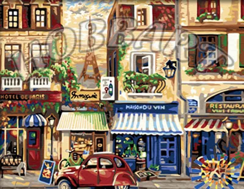 Окно в ЕвропуHobbart<br><br><br>Артикул: HB4050285<br>Основа: Холст<br>Сложность: сложные<br>Размер: 40x50<br>Количество цветов: 20<br>Техника рисования: Без смешивания красок