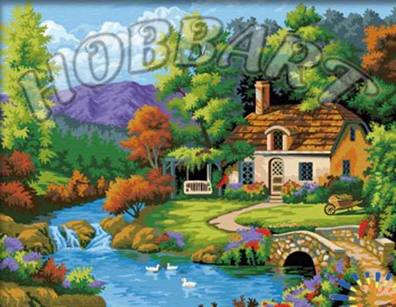 «Романтика» Сен КимаHobbart<br><br><br>Артикул: HB4050293<br>Основа: Холст<br>Сложность: средние<br>Размер: 40x50 см<br>Количество цветов: 25<br>Техника рисования: Без смешивания красок