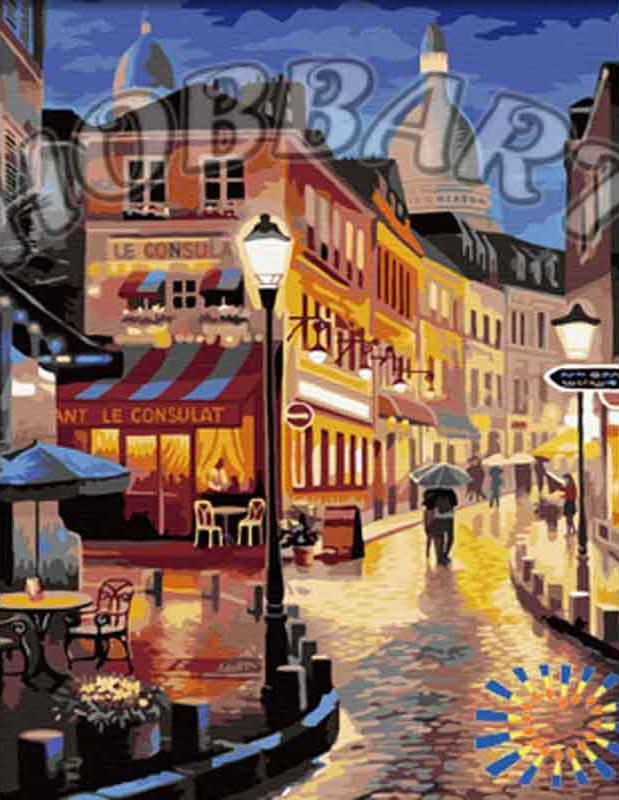 Картина по номерам «Прогулка в теплых сумерках» Сен КимаHobbart<br><br><br>Артикул: HB4050295<br>Основа: Холст<br>Сложность: сложные<br>Размер: 40x50 см<br>Количество цветов: 24<br>Техника рисования: Без смешивания красок