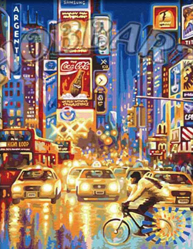 «Огни большого города»Hobbart<br><br><br>Артикул: HB4050310<br>Основа: Холст<br>Сложность: сложные<br>Размер: 40x50 см<br>Количество цветов: 24<br>Техника рисовани: Без смешивани красок