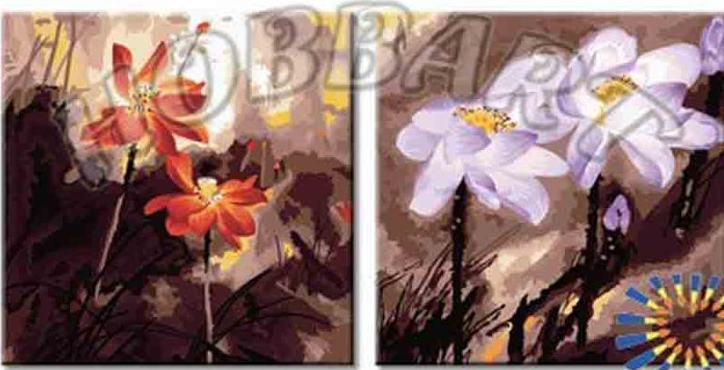 Картина по номерам «Хрупкая гармония»Hobbart<br><br><br>Артикул: PH24080012<br>Основа: Холст<br>Сложность: сложные<br>Размер: 2 шт. 40x40 см<br>Количество цветов: 30<br>Техника рисования: Без смешивания красок