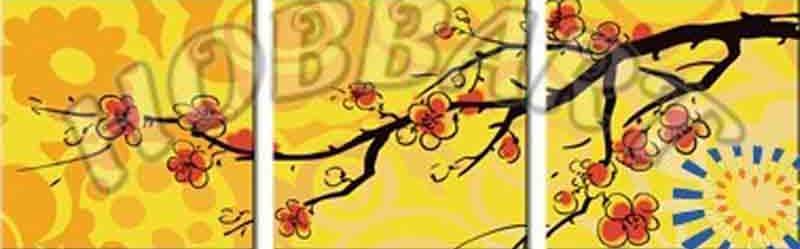 «Сакура в лучах заката»Hobbart<br><br><br>Артикул: PH340120017<br>Основа: Холст<br>Сложность: легкие<br>Размер: 3 шт. 40x40 см<br>Количество цветов: 9<br>Техника рисования: Без смешивания красок