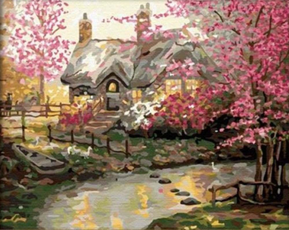 Картина по номерам «Весеннее утро»Hobbart<br><br><br>Артикул: HB4050151<br>Основа: Холст<br>Сложность: сложные<br>Размер: 40x50 см<br>Количество цветов: 30<br>Техника рисования: Без смешивания красок