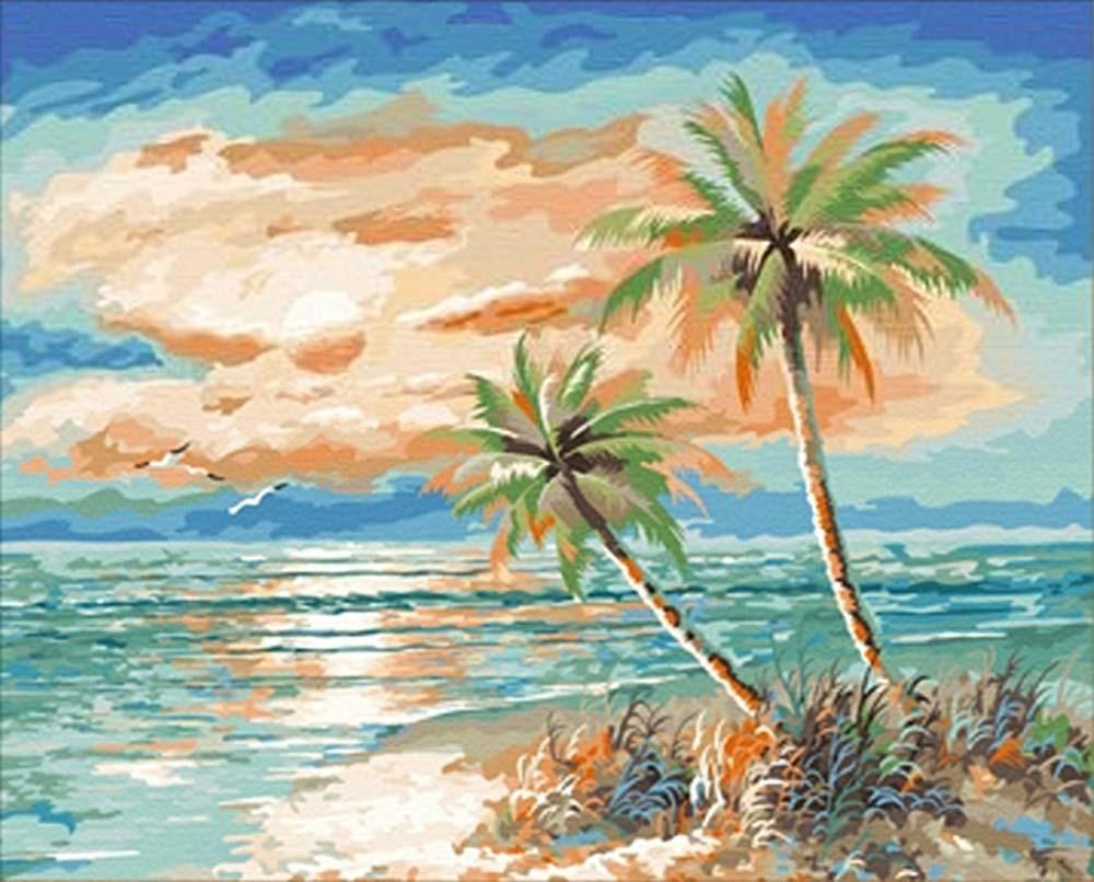 Картина по номерам «Мальдивы»Hobbart<br><br><br>Артикул: HB4050173<br>Основа: Холст<br>Сложность: средние<br>Размер: 40x50 см<br>Количество цветов: 29<br>Техника рисования: Без смешивания красок