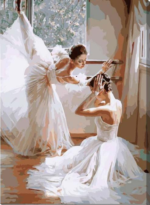 Картина по номерам «Репетиция балета» Гуань ЦзэцзуйяPaintboy (Premium)<br><br><br>Артикул: G399<br>Основа: Холст<br>Сложность: средние<br>Размер: 40x50 см<br>Количество цветов: 25<br>Техника рисования: Без смешивания красок