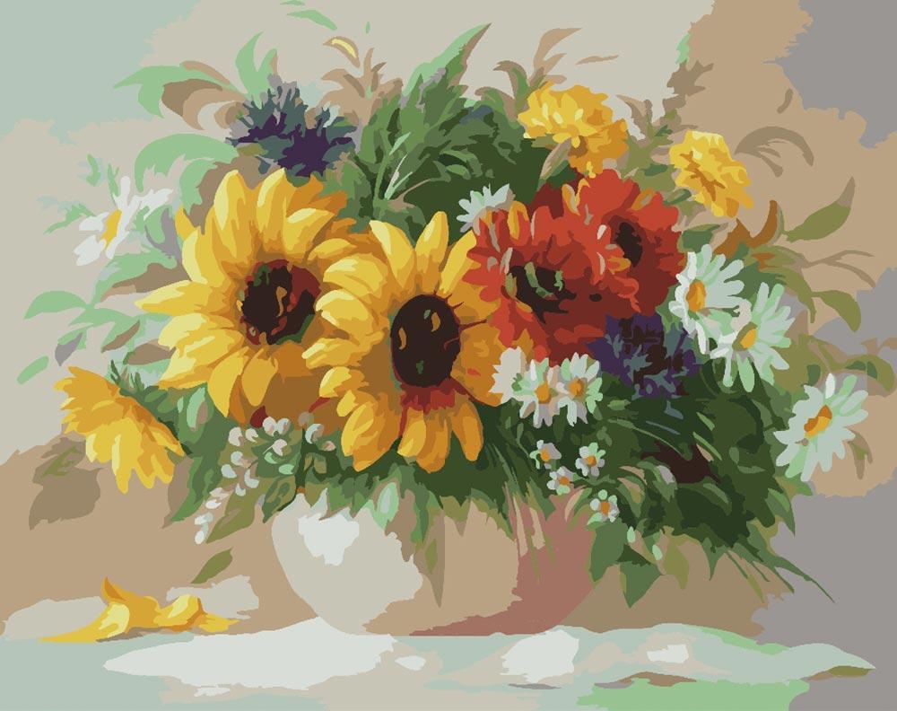 «Садовый букет» Антонио ДжанильяттиPaintboy (Premium)<br><br><br>Артикул: GX6291<br>Основа: Холст<br>Сложность: средние<br>Размер: 40x50 см<br>Количество цветов: 25<br>Техника рисования: Без смешивания красок